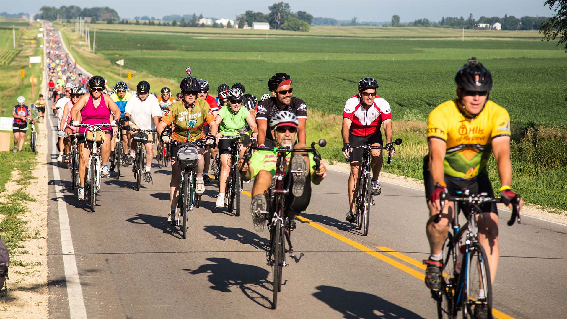 Video: RAGBRAI hits Denison, Iowa