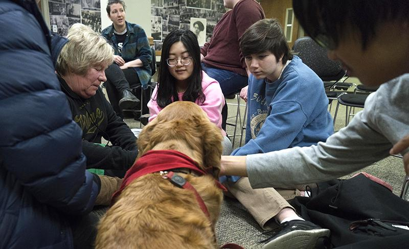 UI Trans Alliance hosts public panel, includes therapy dogs