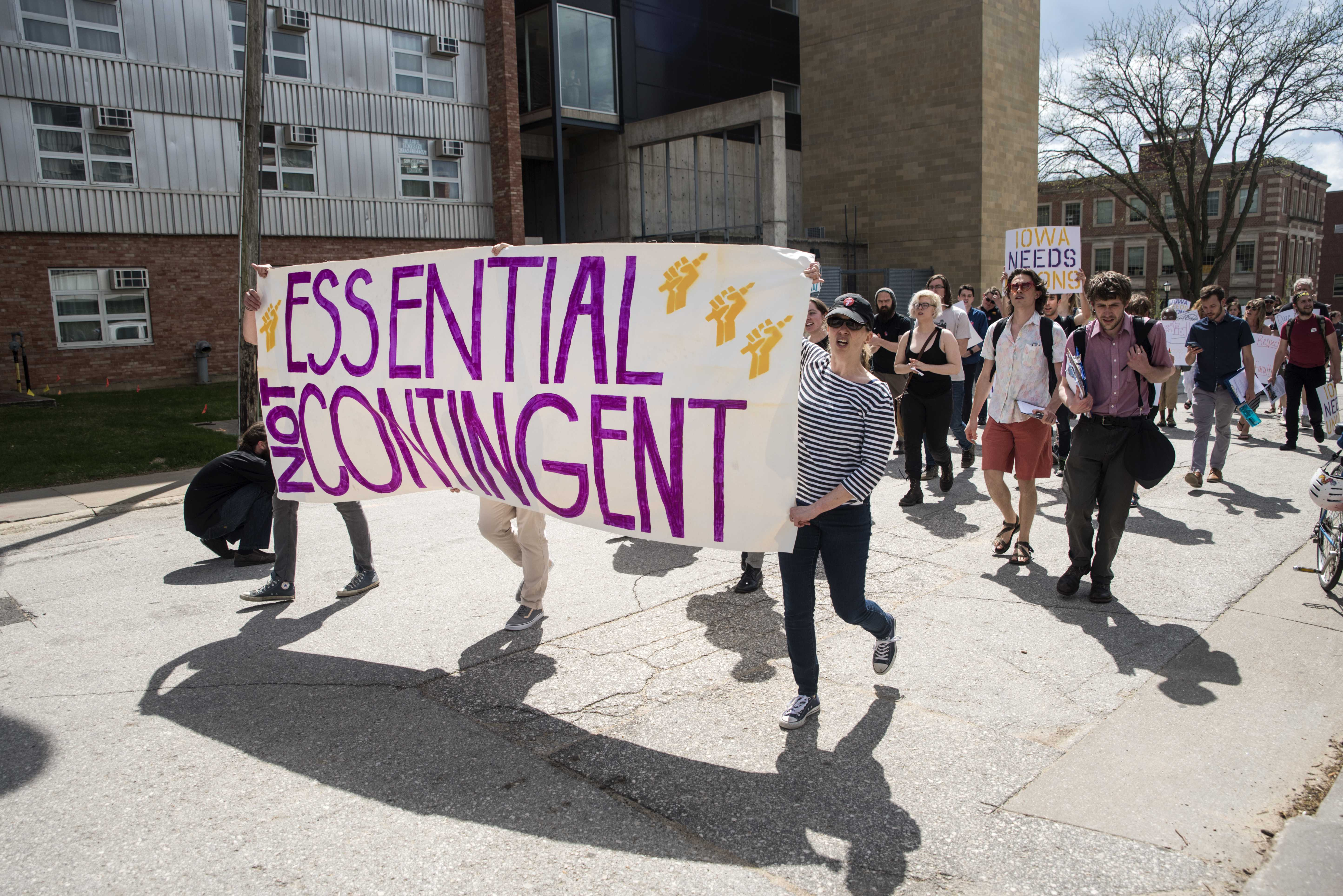 Nontenure-track faculty continue fighting for transparency, rights