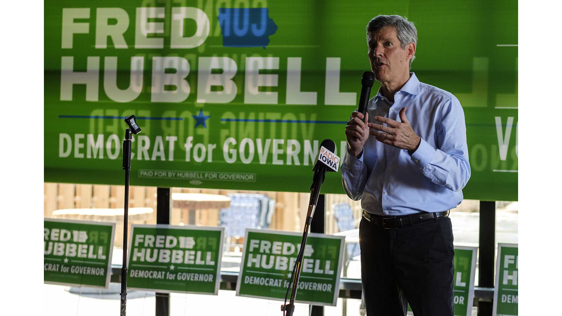 Iowa Democratic nominee for governor Fred Hubbell speaks at a campaign event at Big Grove Brewery in Iowa City on Sunday, June 3. Hubbell will face off against incumbent Gov. Kim Reynolds in November. (Nick Rohlman/The Daily Iowan)