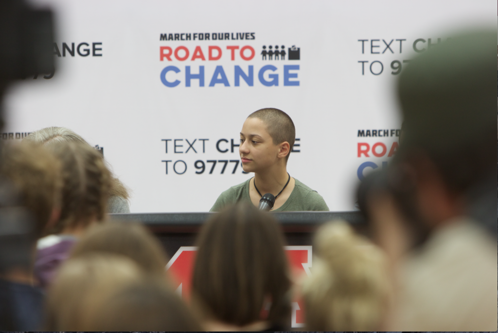 Parkland+student+Emma+Gonz%C3%A1lez+listens+during+the+panel+at+the+March+For+Our+Lives+event+in+Marion%2C+Iowa+on+June.+21%2C+2018.+%28Gage+Miskimen%2FThe+Daily+Iowan%29