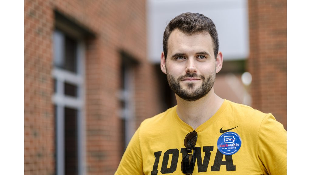 State Senatorial candidate Zach Wahls poses for a portrait on Friday, June 1,. Wahls is running in Iowa's 37th district.(Nick Rohlman/The Daily Iowan)