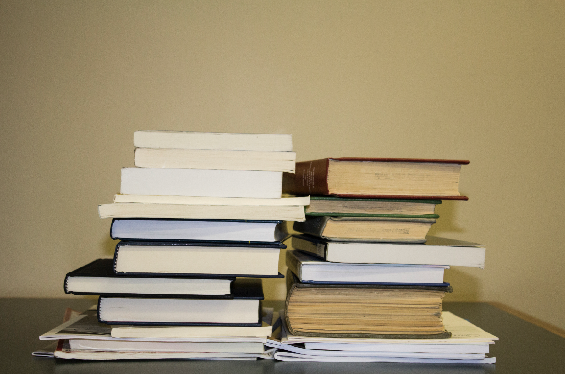Donated books are seen in the UI main library on July 11, 2018. (Michael Aragon/The Daily Iowan)