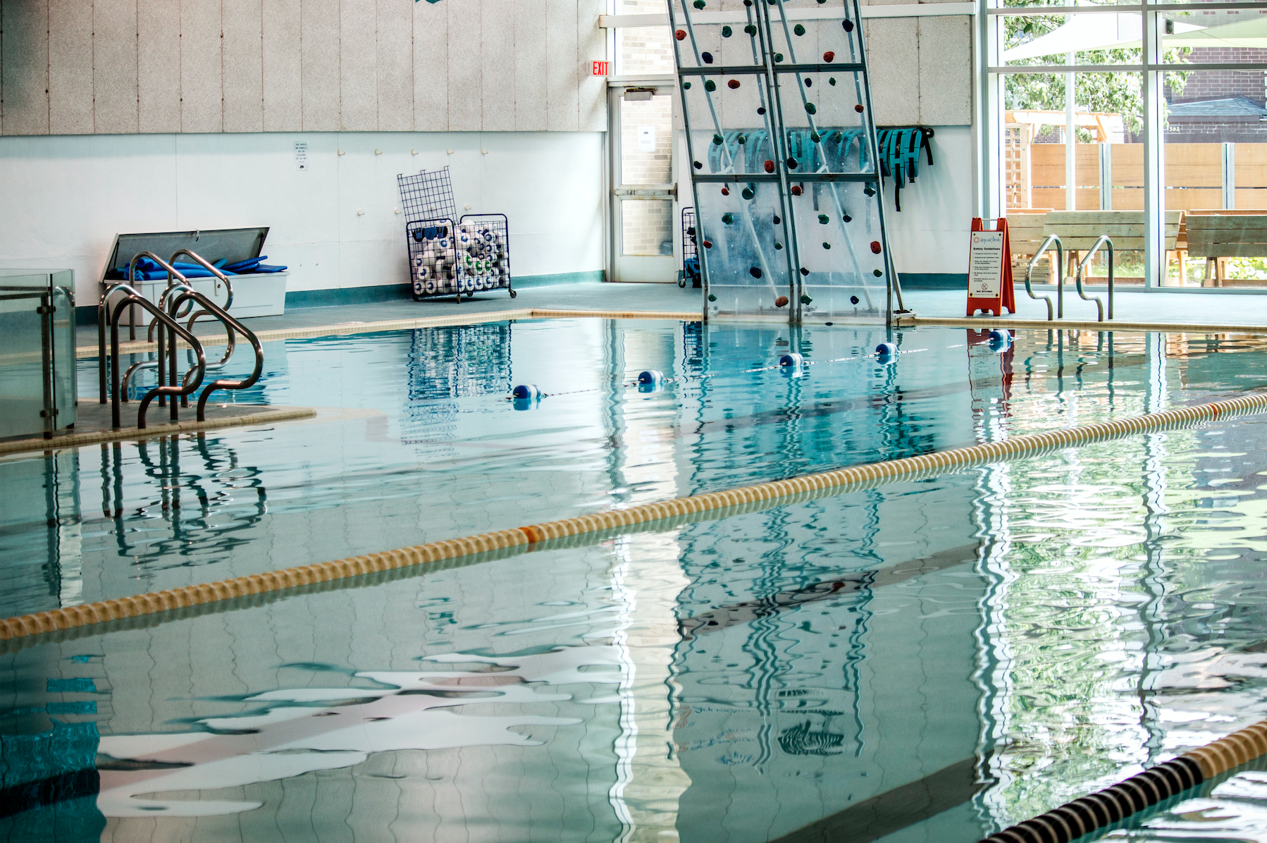 The Robert A. Lee Recreation Center pool is seen on July 25, 2018. (Katina Zentz/The Daily Iowan)