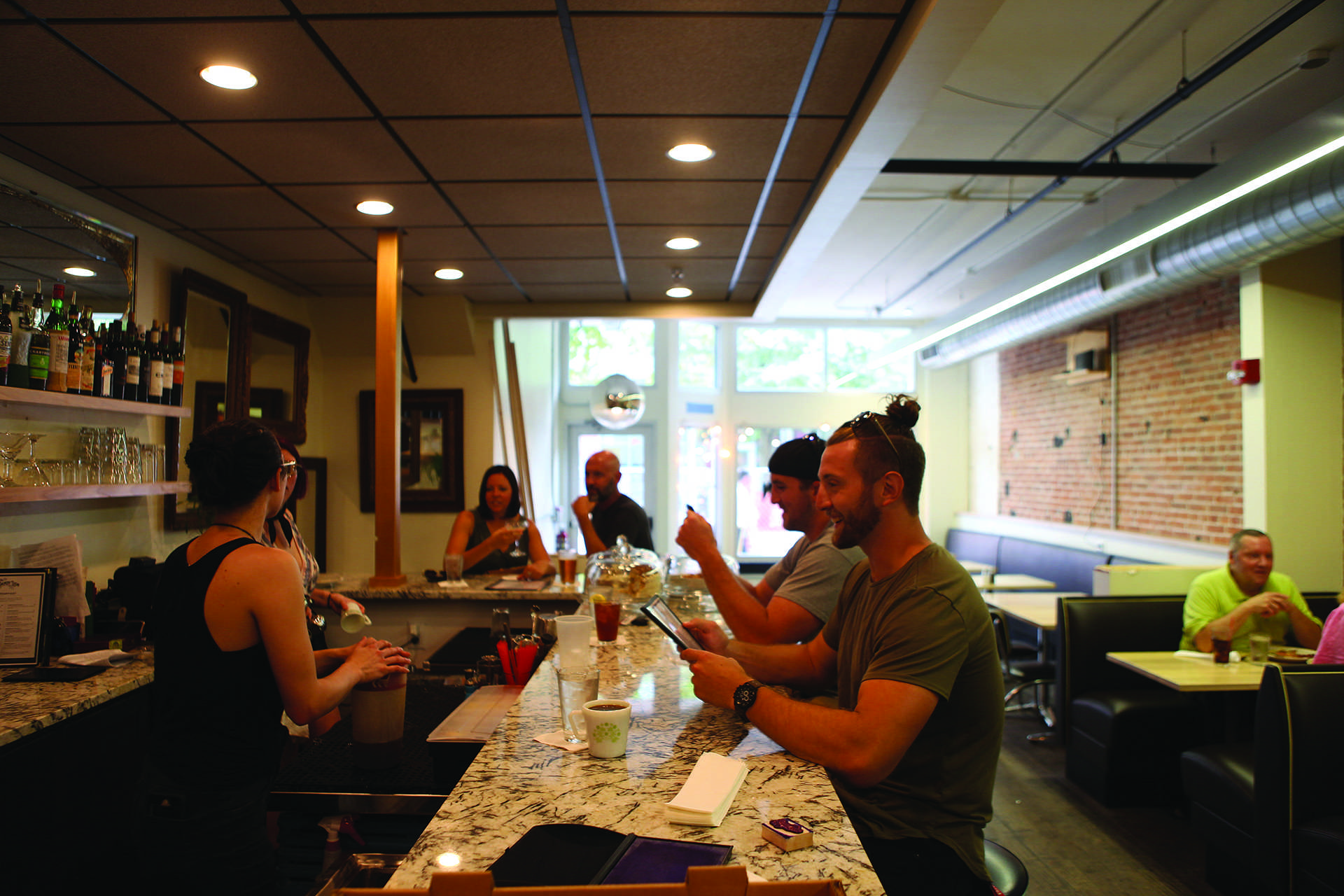 On Sunday, July 1, The Dandy Lion opened its doors to Iowa City. The small bistro is located in the Ped Mall where Forbidden Planet formerly was. (Tate Hildyard/The Daily Iowan).