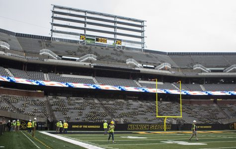 Kinnick north end-zone construction continues