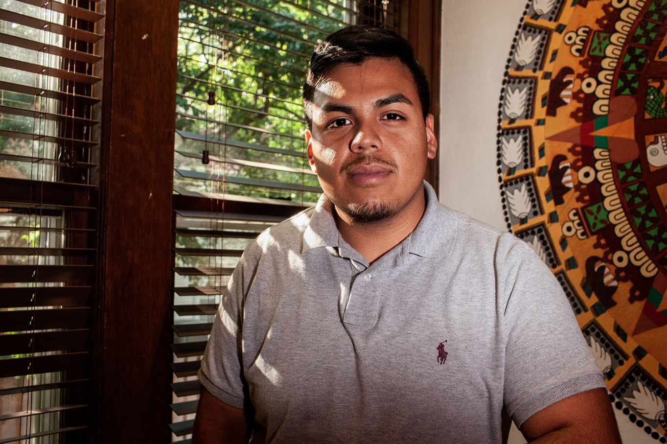 UISG Latinx Constituency Senator Fredy  Quevedo poses for a portrait in the Latino-Native American Cultural Center on Monday, August 27, 2018. In his role as Constituency Senator, Quevedo serves as a bridge between UISG and the latino community.