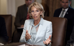 Secretary of Education Betsy DeVos speaks during a Cabinet meeting in the Cabinet Room of the White House on Wednesday, July 18, 2018 in Washington, D.C.