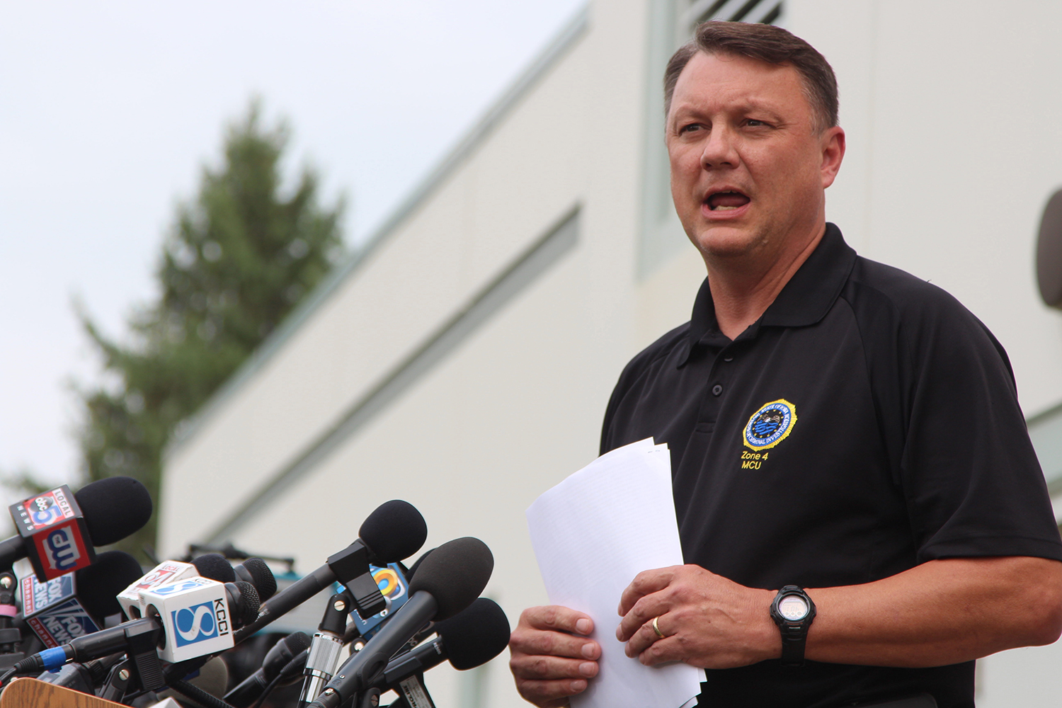 Department of Criminal investigation Special Agent in Charge Richard Rahn speaks at a press conference regarding the case of UI student Mollie Tibbetts' death in Montezuma, Iowa, on Aug. 21, 2018. Tibbetts' body was found in a cornfield outside of Brooklyn, Iowa, and a first-degree murder charge has been filed.