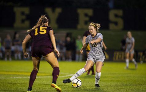 Iowa soccer outguns Central Michigan