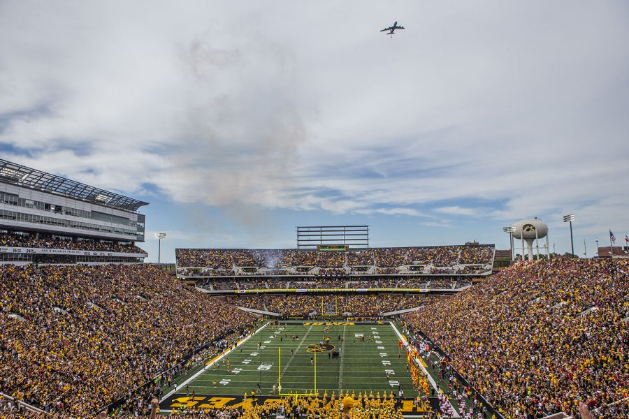 Kinnick+Stadium+is+seen+before+the+Iowa%2FIowa+State+football+game+on+Saturday%2C+September+8%2C+2018.+The+Hawkeyes+defeated+the+Cyclones%2C+13-3.+