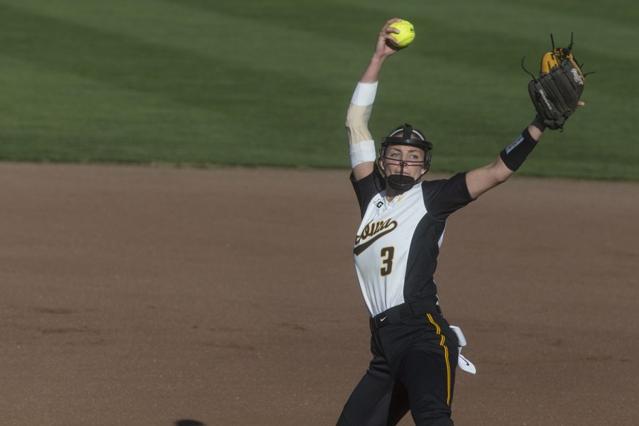 Junior Allison Doocy Pitches During The Iowa V