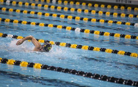 Iowa swimming and diving splits road dual in Minnesota