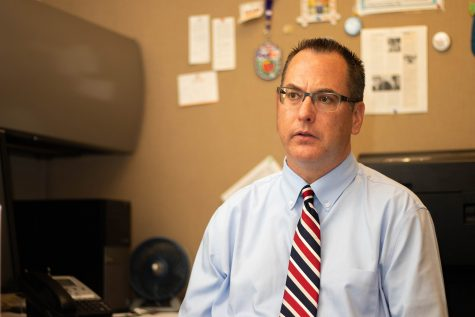 Professor Christopher Coffey worked as part of the research team that discovered a drug that slows brain shrinkage in people with multiple sclerosis. Coffey spoke about his research on Sept. 5, 2018.