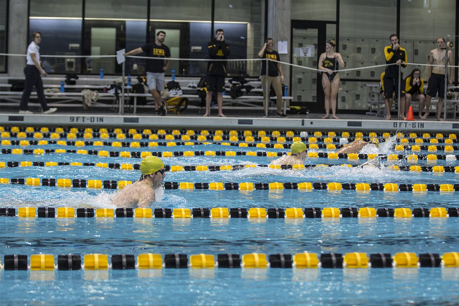 Swimmers+race+in+a+breaststroke+event+during+the+Iowa+Swimming+and+Diving+Intrasquad+Meet+at+the+Campus+Recreation+and+Wellness+Center+on+Saturday%2C+September+29%2C+2018.+