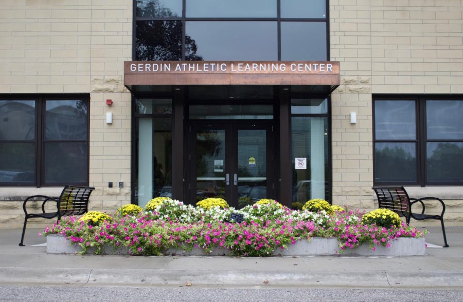 The+Gerdin+Athletic+Learning+Center+as+pictured+on+Sept.+7.+The+building%2C+which+has+study+spaces+for+student+athletes%2C+just+received+a+%246+million+renovation.