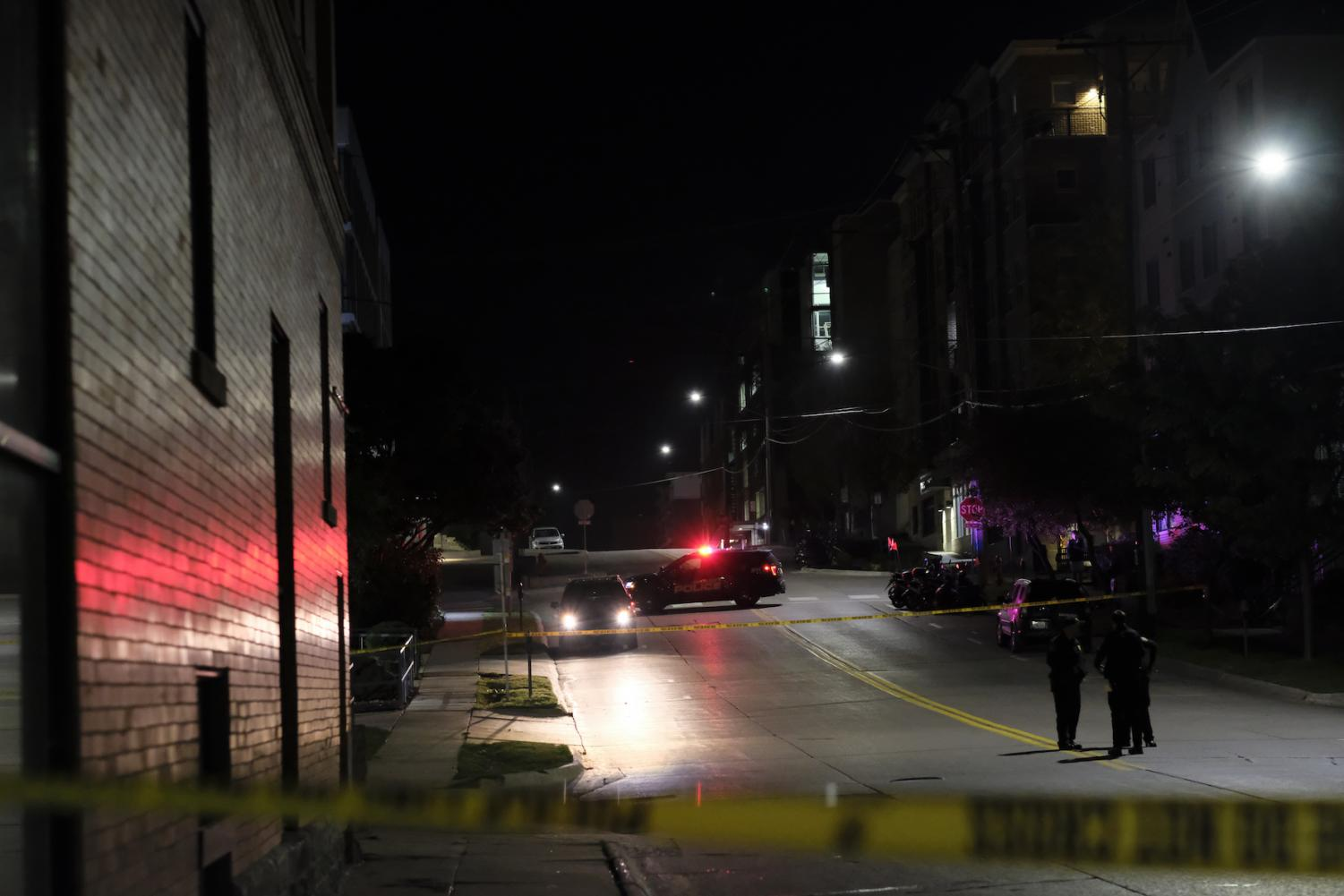 Iowa City police investigate a reported shooting on Court Street the morning of Saturday, Sept. 29, 2018.