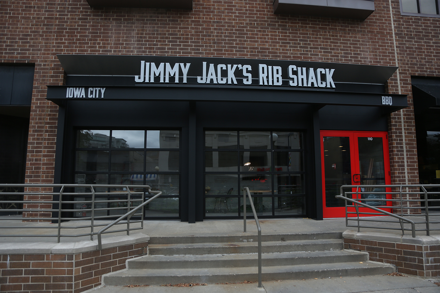 Jimmy Jacks Rib Shack is adding a new location to downtown Iowa City next to Buffalo Wild Wings located on S. Clinton St. Jimmy Jacks is also located on Lower Muscatine Road in Iowa City near the Sycamore Mall. (The Daily Iowan/ Alex Kroeze)