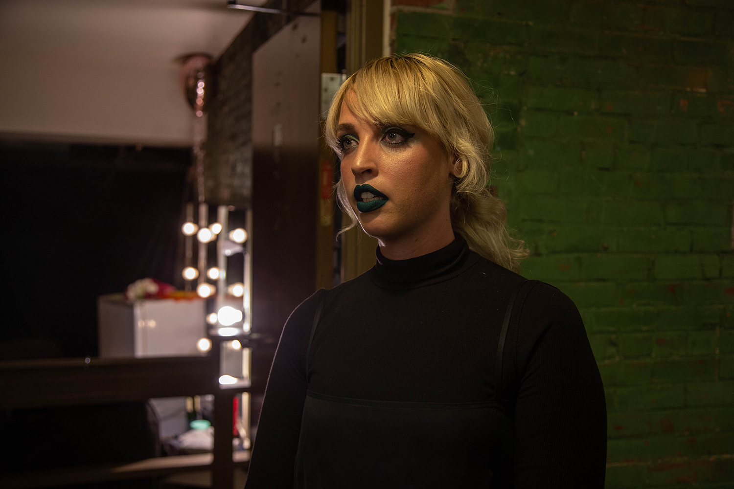 Elizabeth Moen is seen before her performance at the Englert Theater on Friday, September 14, 2018. Moen performed at the Englert as part of her release tour for her LP