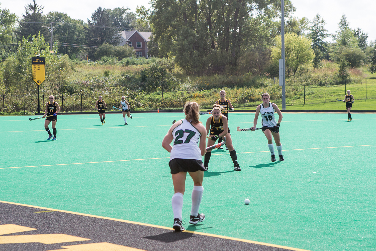 Dartmouth%27s+Sara+Falkson+passes+the+ball+in+during+a+field+hockey+match+between+Iowa+and+Dartmouth+College+at+Grant+Field+on+Friday%2C+August+31%2C+2018.+The+Hawkeyes+shut+out+the+Big+Green%2C+6-0.