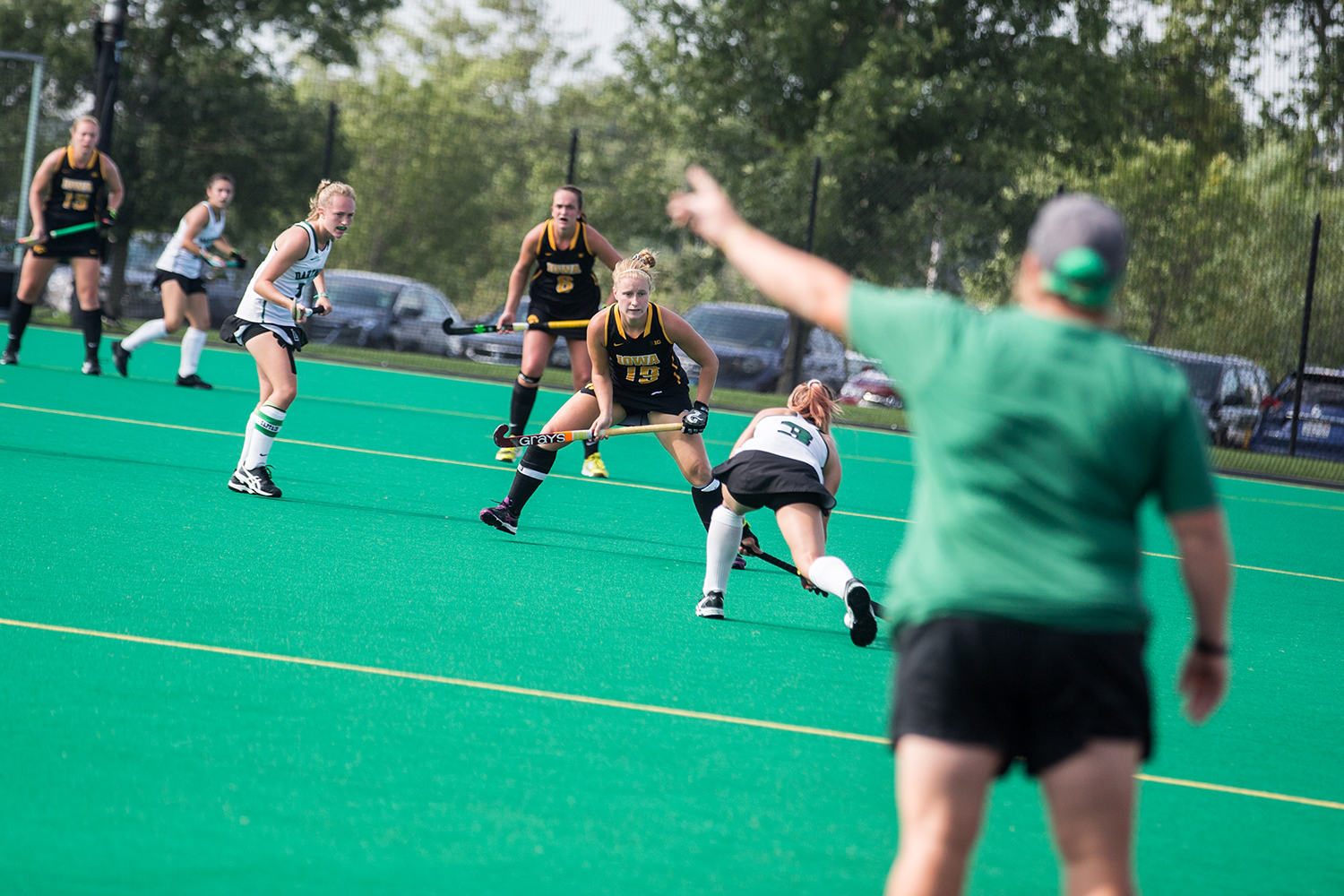 Iowa%27s+Ryley+Miller+plays+defense+during+a+field+hockey+match+between+Iowa+and+Dartmouth+College+at+Grant+Field+on+Friday%2C+August+31%2C+2018.+The+Hawkeyes+shut+out+the+Big+Green%2C+6-0.