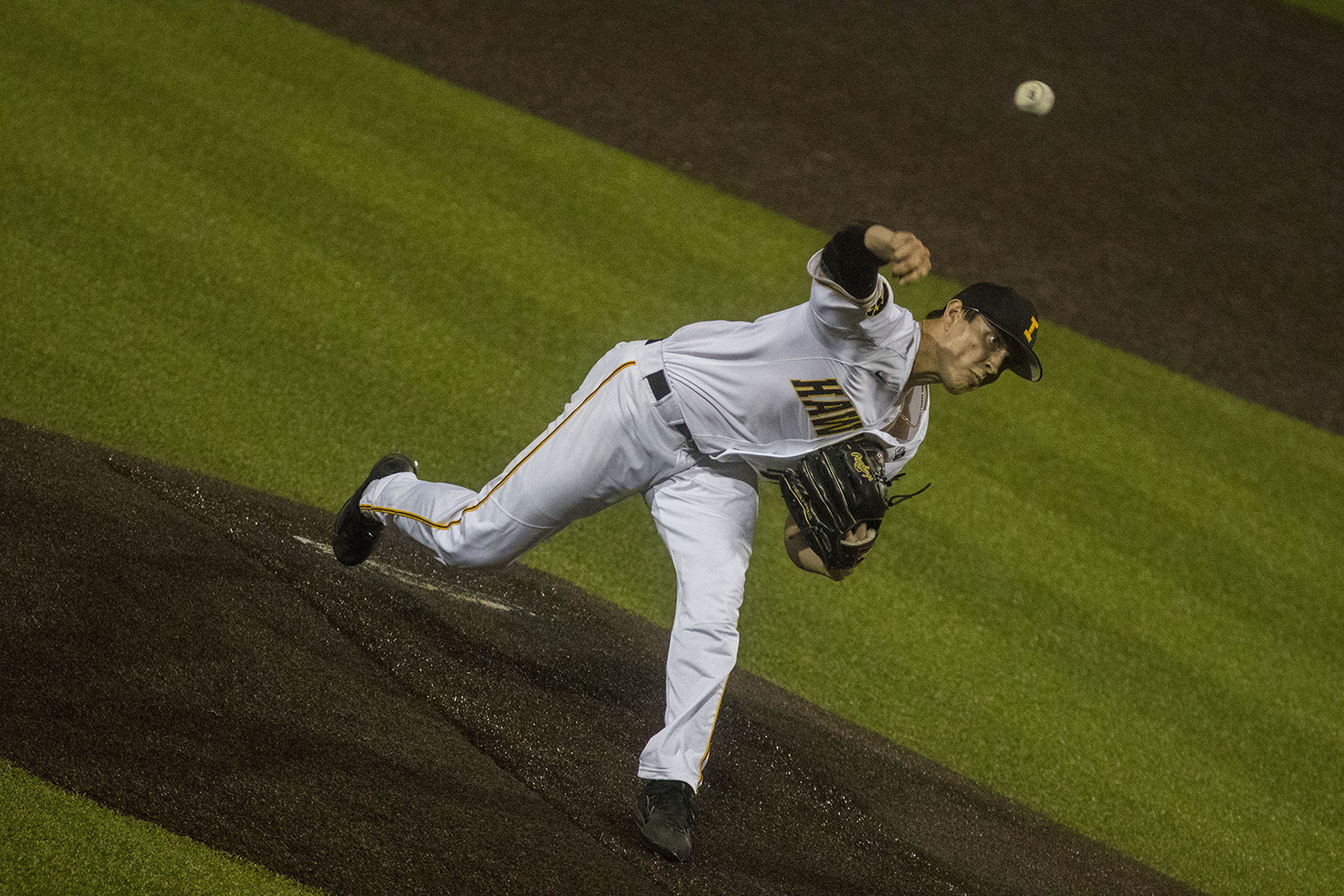 Iowa's Ben Probst pitches during the Iowa/Southeastern Community College baseball game at Duane Banks Field on Thursday, Sept. 20, 2018. The Hawkeyes defeated the Blackhawks, 23-5.