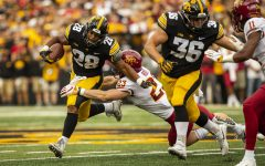 Iowa running back Torren Young during Iowa's game against Iowa State at Kinnick Stadium on Saturday, Sept. 8, 2018. The Hawkeyes defeated the Cyclones 13-3.