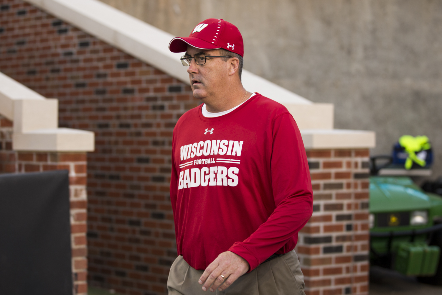 Wisconsin+Head+Coach+Paul+Chryst+takes+the+field+before+Iowa%27s+game+against+Wisconsin+at+Kinnick+Stadium+on+Saturday%2C+September+22%2C+2018.+The+Badgers+defeated+the+Hawkeyes+28-17.
