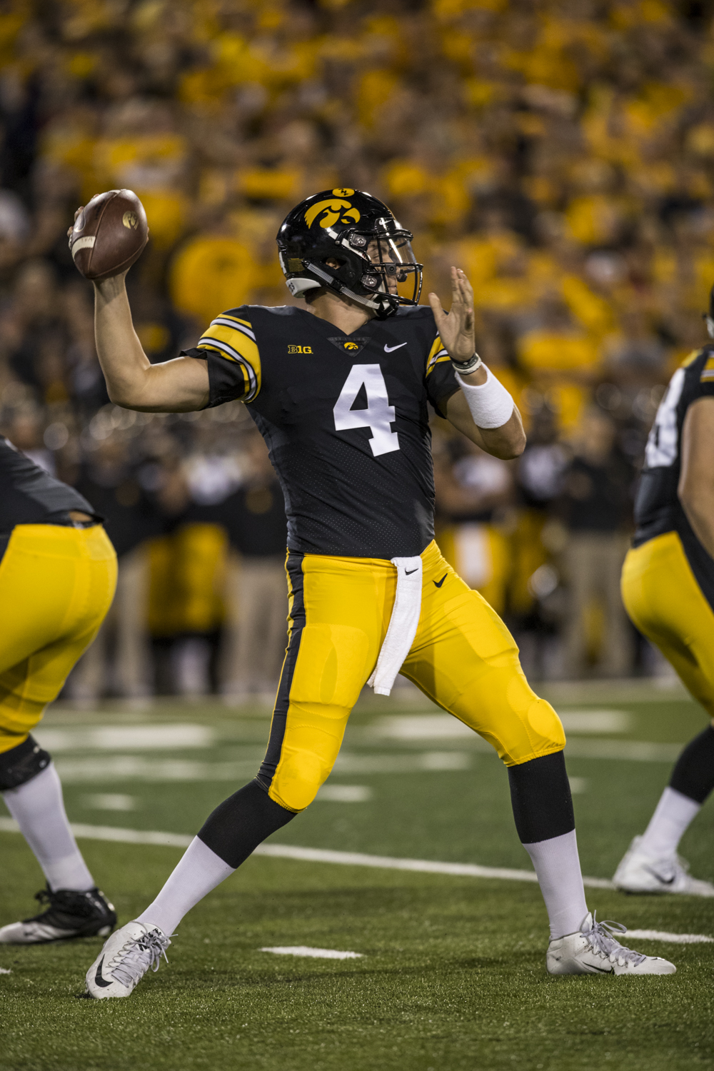Iowa+quarterback+Nate+Stanley+throws+a+pass+during+Iowa%27s+game+against+Wisconsin+at+Kinnick+Stadium+on+Saturday%2C+September+22%2C+2018.+The+Badgers+defeated+the+Hawkeyes+28-17.