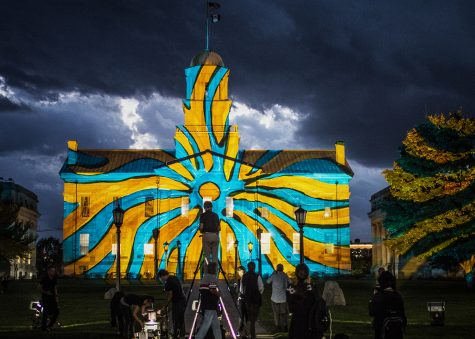 Video: An artistic light show illuminates the Old Capitol