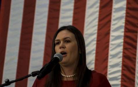 In Des Moines, Sarah Huckabee Sanders emphasizes electing Republicans in the midterm elections