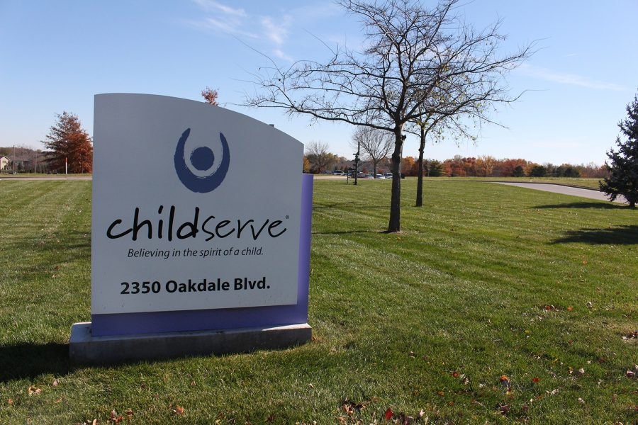 The+ChildServe+sign+is+seen+in+Coralville.+