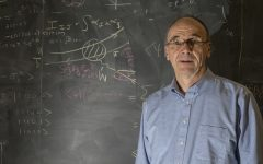 Yannick Meurice, professor in the department of Physics and Astronomy, poses for a portrait in Van Allen on Monday, Oct. 15, 2018. Meurice has been awarded a $1.3 million grant from the U.S. Department of Energy to study foundational aspects of quantum computing.