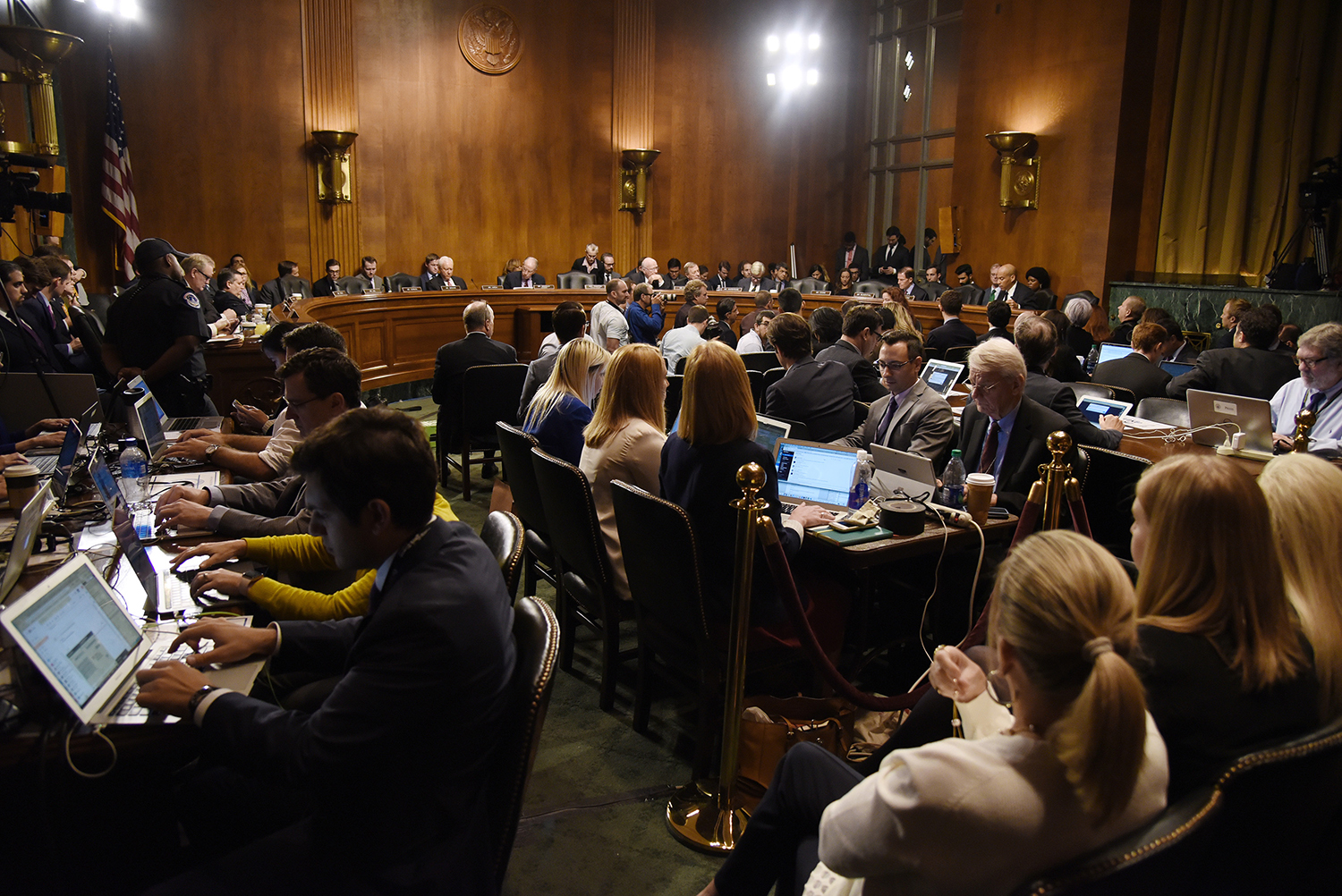 Senators wait to vote during the Senate Judiciary Committee meeting about the Supreme Court nominee Brett Kavanaugh Friday Sept. 28, 2018.  in Washington, D.C. (Olivier Douliery/Abaca Press/TNS)