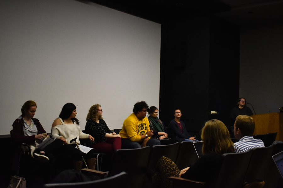 UI Students for Disability Advocacy & Awareness spoke at the first annual Students with Disabilities Panel in the Iowa Memorial Union on Tuesday, Oct. 23, 2018. Each panelist had a personal story to share about life at Iowa with their disability.