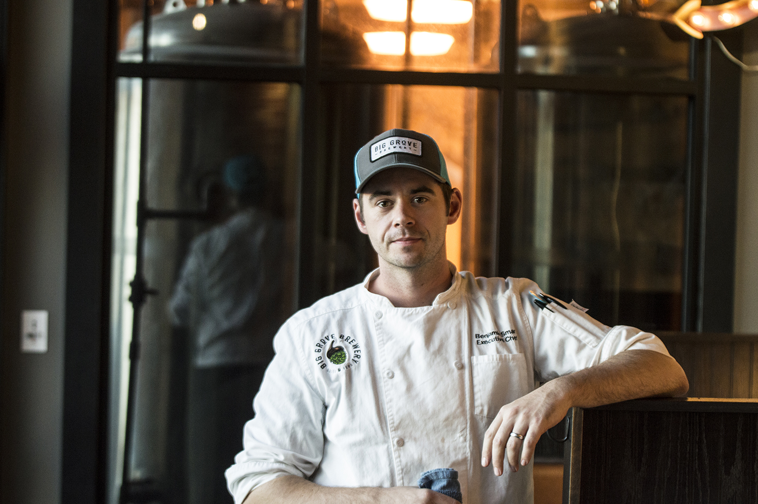Chef, Ben Smart poses for a photo at Big Grove Brewery in Solon Ia on Wednesday, October 17th, 2018. Smart had just opened up a new menu at the for the public.