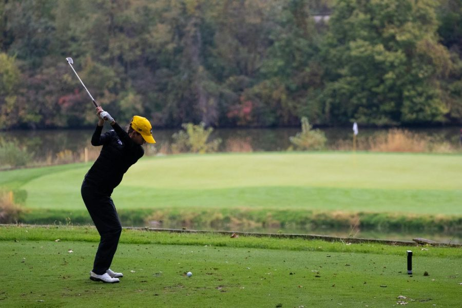 Iowa+sophomore+Brett+Permann+tees+off+during+the+Diane+Thomason+Invitational+at+Finkbine+Golf+Course+on+Sept.+30%2C+2018.The+Hawkeyes+placed+first+overall.+++