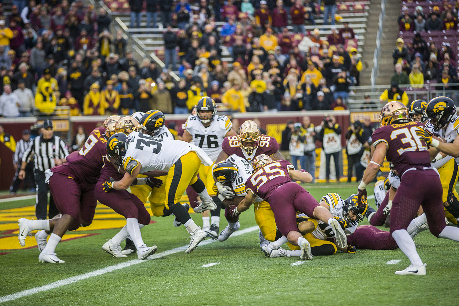 Iowa%27s+Mekhi+Sargent+during+the+Iowa%2FMinnesota+football+game+at+TCF+Bank+Stadium+in+Minneapolis+on+Saturday%2C+October+6%2C+2018.+The+Hawkeyes+defeated+the+Golden+Gophers%2C+48-31.