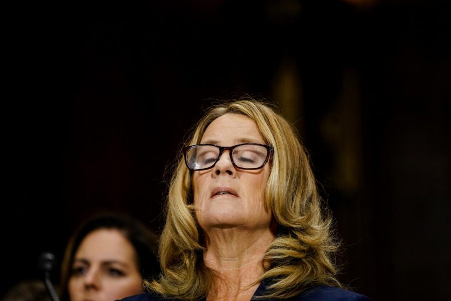 Christine+Blasey+Ford+takes+a+breath+at+a+Senate+Judiciary+Committee+hearing+on+Thursday%2C+Sept.+27%2C+2018+on+Capitol+Hill+in+Washington%2C+D.C.+%28Melina+Mara%2FPool%2FAbaca+Press%2FTNS%29