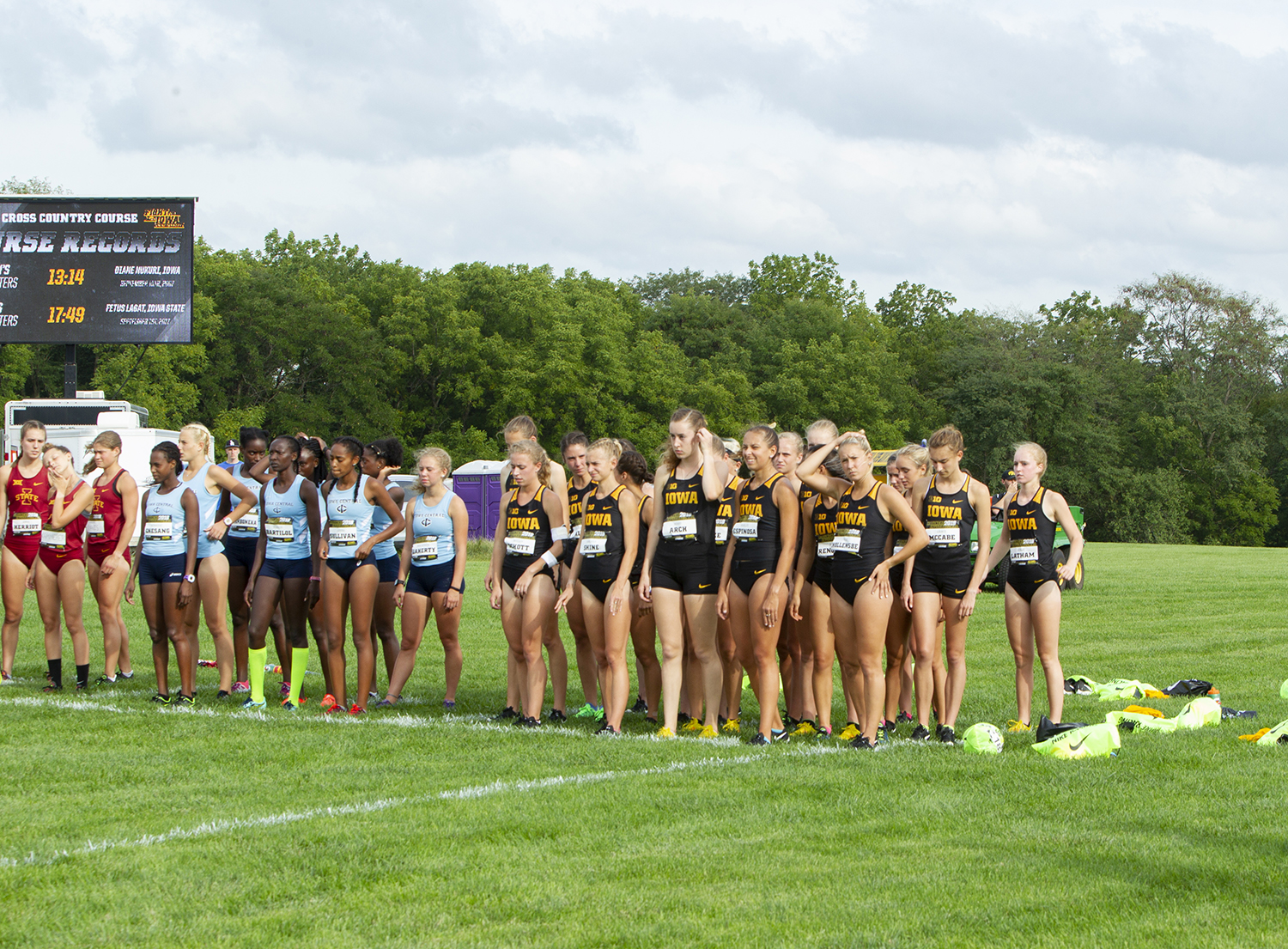 The Hawkeyes begin the Women's 4k race at the Hawkeye Invitational on Friday, August 31, 2018 at Ashton Cross Country Course. The Hawkeyes were defeated by Iowa State 56 to 24.