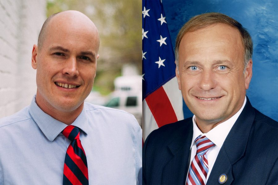 Democrat+J.D.+Scholten++%28left%29+is+running+against+Republican+incumbent+Steve+King+to+take+a+seat+in+the+U.S.+House+of+Representatives.