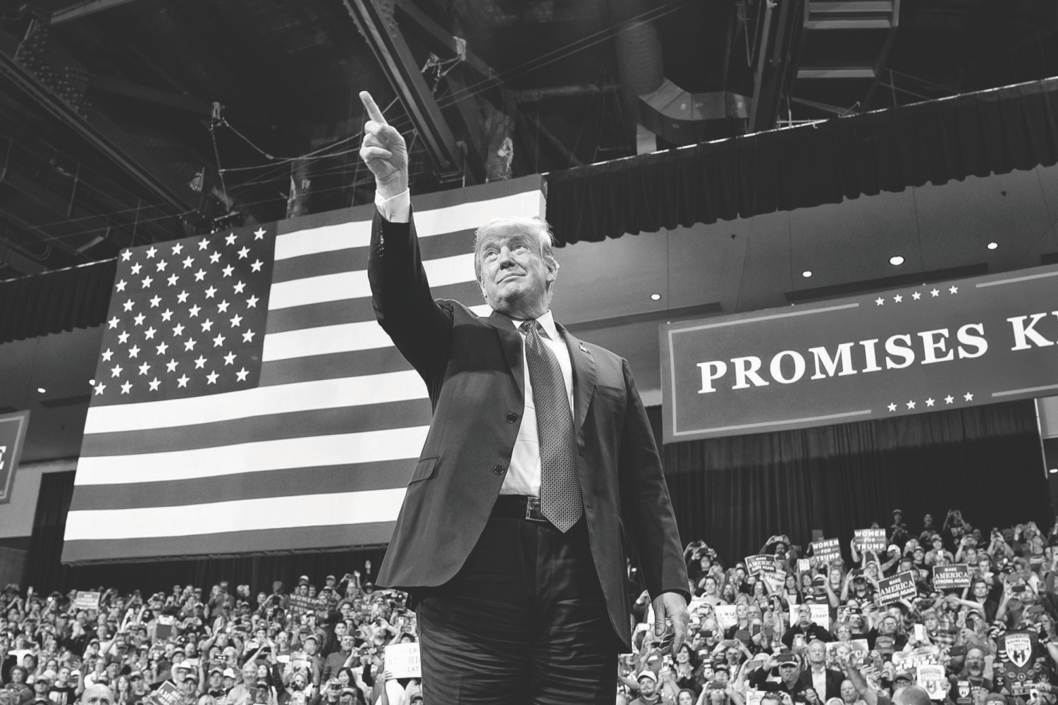 President Donald Trump attends a rally on Thursday, Oct. 4, 2018, at Mayo Civic Center in Rochester, Minn.