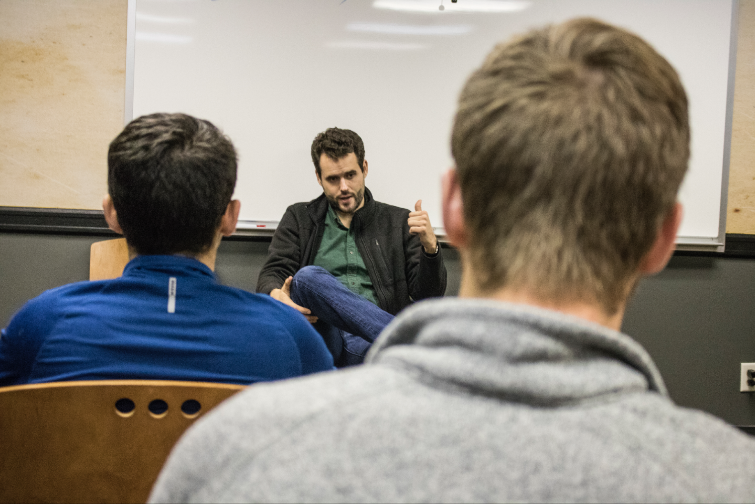 Iowa Senate candidate Zach Wahls holds a forum in the Iowa Memorial Union on Friday, Oct. 5, 2018.
