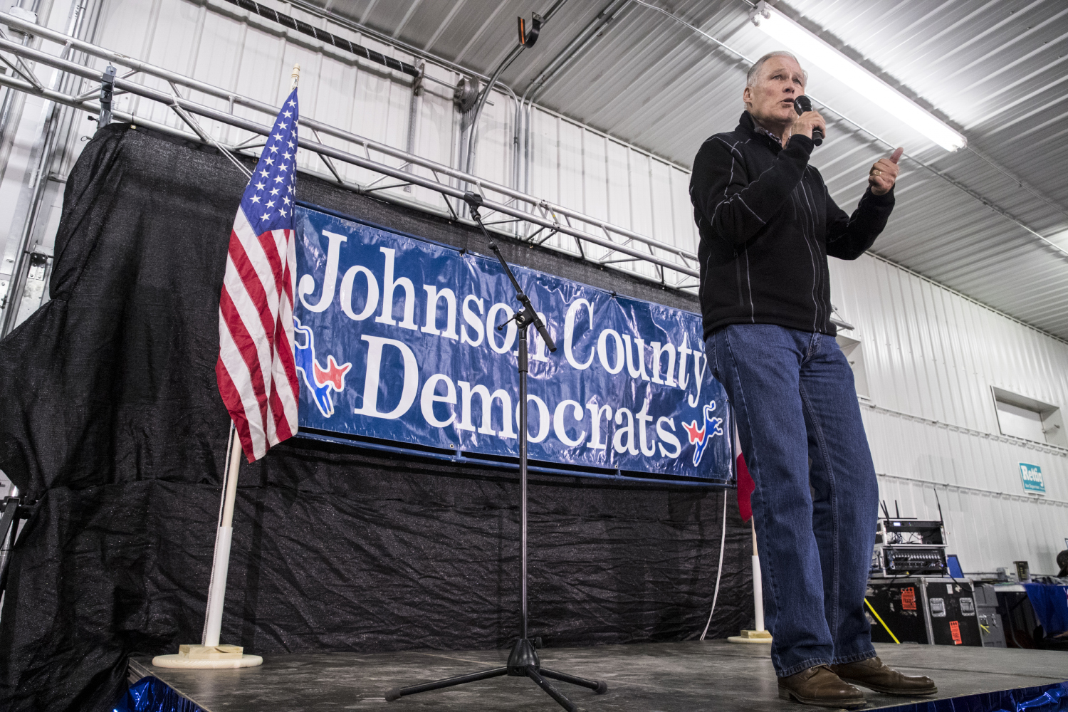 Washington+Governor+Jay+Inslee+speaks+during+the+Johnson+County+Democratic+Party+Fall+Barbeques+at+the+Johnson+County+Fairgrounds+on+Sunday+Oct.+14%2C+2018.+