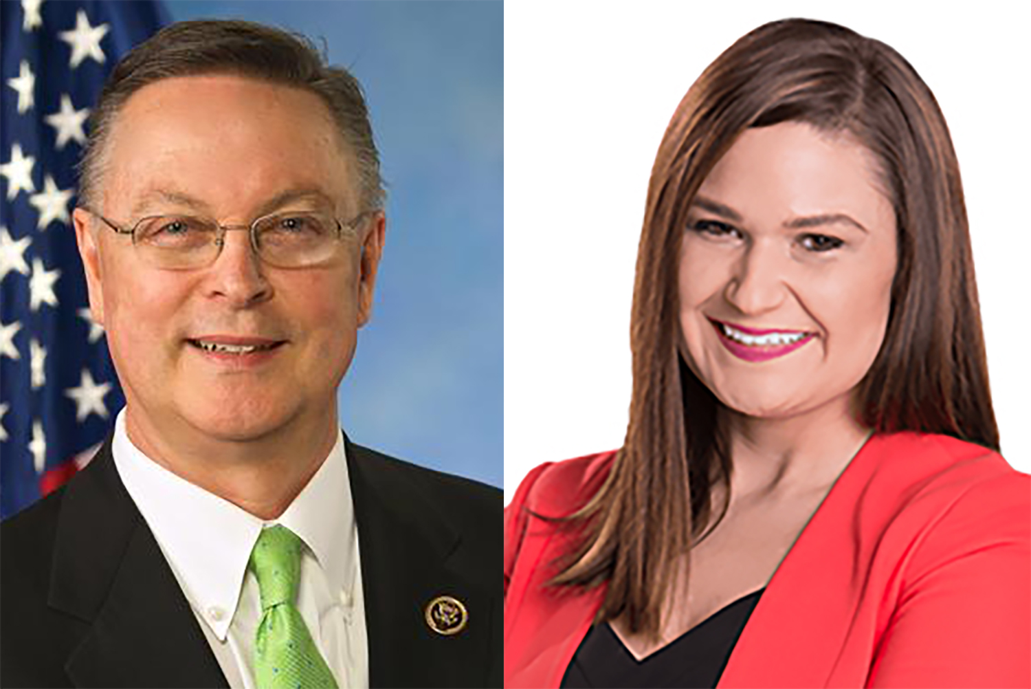 U.S. Rep. Rod Blum, R-Iowa, (left) will face off against Democratic challenger Abby Finkenauer (right) to represent Iowa's 1st congressional district.