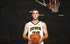 Iowa guard Connor McCaffrey poses for a portrait during Iowa men's basketball Media Day at Carver-Hawkeye Arena on Monday, Oct. 8, 2018. The team's first game will be against Guilford College on Nov. 4.