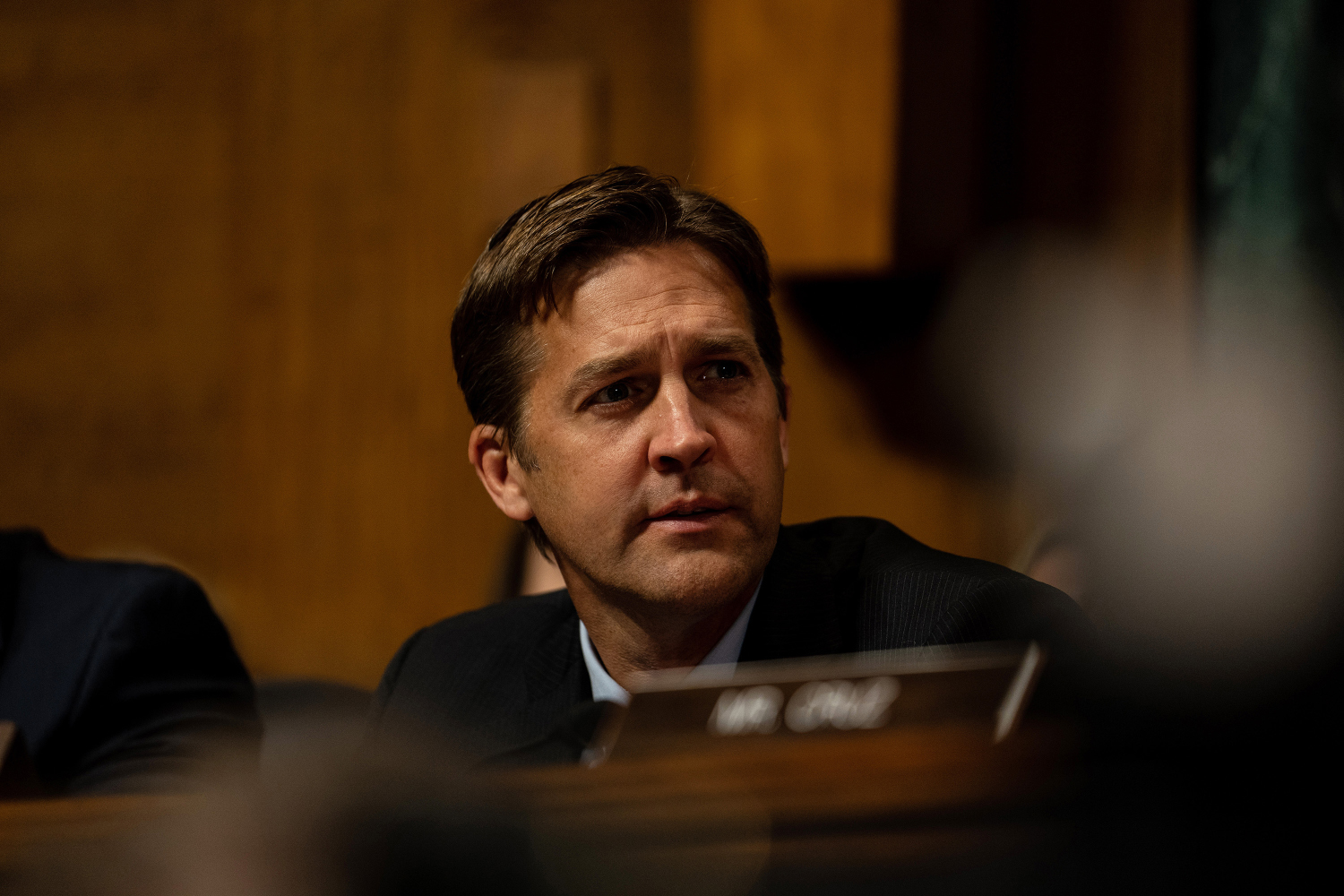 Senator Ben Sasse had tears in eyes after Christine Blasey Ford's statements as the Senate Judiciary Committee holds a hearing for Dr. Christine Blasey Ford to testify about sexual assault allegations against Supreme Court nominee Judge Brett M. Kavanaugh at the Dirksen Senate Office Building on Capitol Hill Thursday, Sept. 27, 2018 in Washington, D.C. (Erin Schaff/Pool/Abaca Press/TNS)