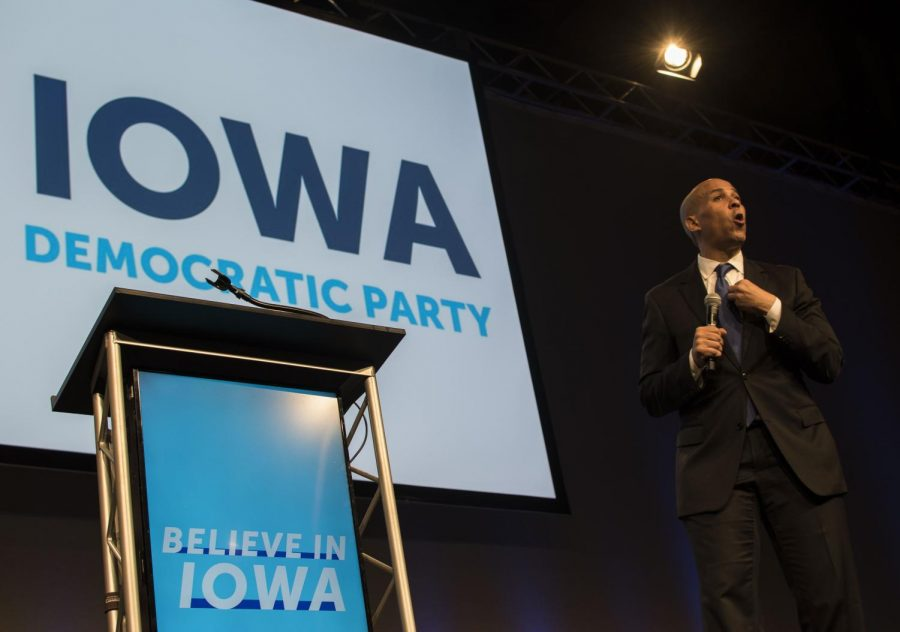 New+Jersey+Sen.+Cory+Booker+speaks+to+supporters+on+Saturday%2C+Oct.+6%2C+2018+in+Des+Moines.