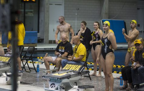 Hawkeye swimming and diving hosts triangular with Michigan and Denver