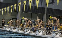 Iowa men's swimming and diving tries to keep up with the wave